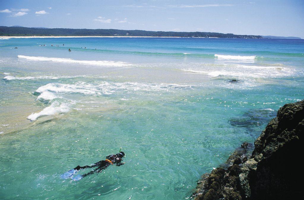 Snorkel blue waters in Merimbula