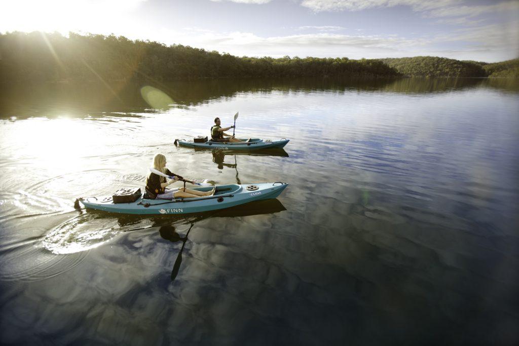 Canoeing on Mallacoota Inlet