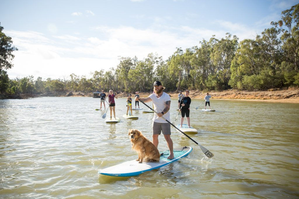Murray River, stand up paddle, echuca moama