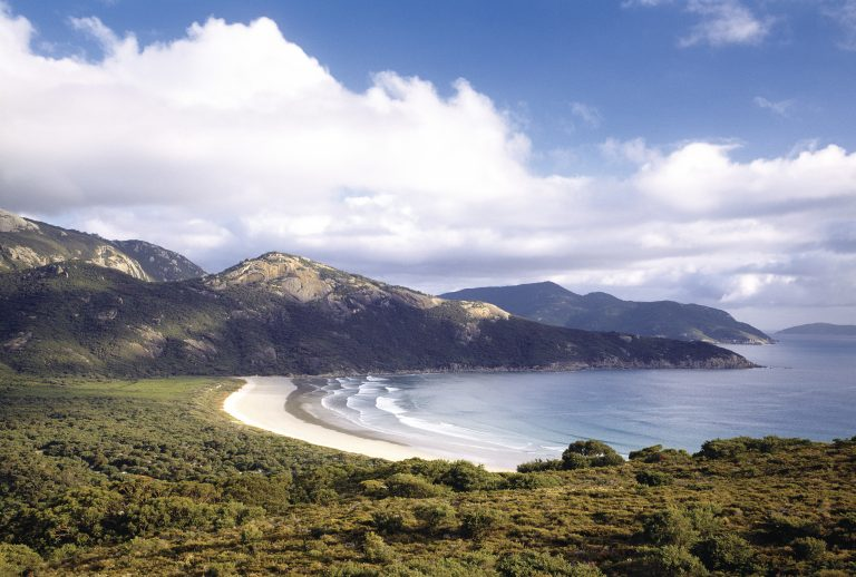 Views of Norman Beach at Tidal River Wilsons Promontory National Park